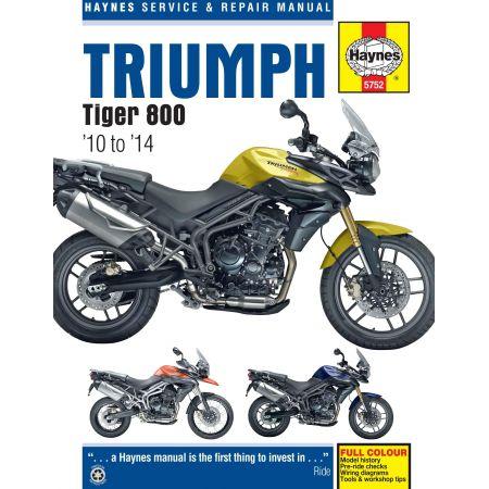 Tiger 800 10-14 Revue technique Haynes TRIUMPH Anglais