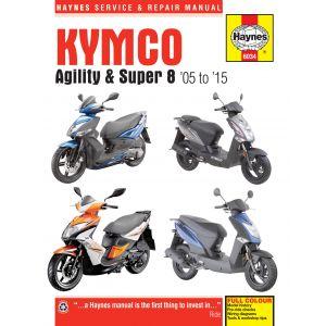 Agility Super 8 05-15 Revue technique Haynes KYMCO Anglais