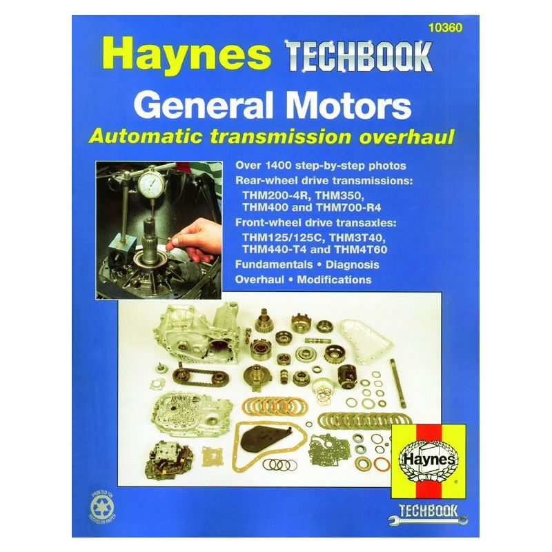 general motors automatic transmission overhaul rth010360 revue technique haynes anglais. Black Bedroom Furniture Sets. Home Design Ideas