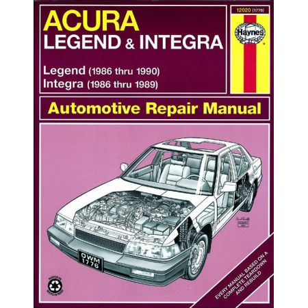 Integra 86-89 Legend 86-90 Revue technique Haynes HONDA Anglais