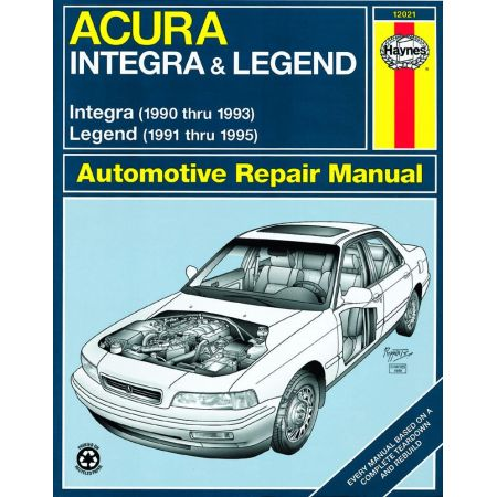 Integra 90-93 Legend 91-95 Revue technique Haynes HONDA Anglais