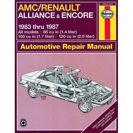 Alliance-Encore 83-87 Revue technique Haynes AMC RENAULT Anglais