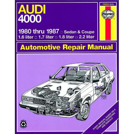 4000 Sedan - Coupe 80-87 Revue technique Haynes AUDI Anglais