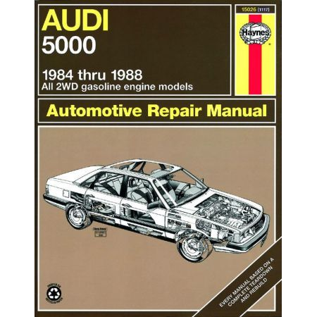 5000 2WD gas engine 84- 88 Revue technique Haynes AUDI Anglais