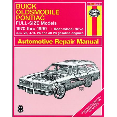 Full-Size RWD 70-90 Revue technique Haynes BUICK OLDSMOBILE PONTIAC Anglais