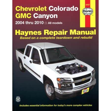 Colorado Canyon 04-12 Revue technique Haynes CHEVROLET Anglais