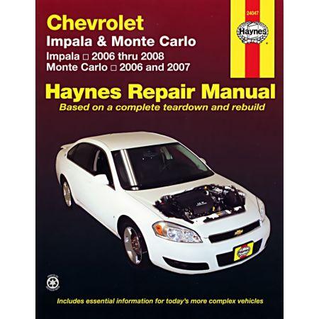 Impala Monte Carlo Revue technique Haynes CHEVROLET Anglais
