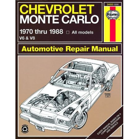 Monte Carlo 70-88 Revue technique Haynes CHEVROLET Anglais