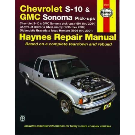 S-10 94-04 Envoy 98-01 Revue technique Haynes CHEVROLET GMC Anglais