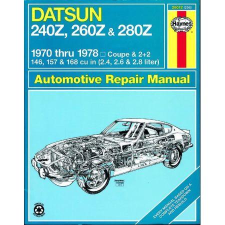 240Z 70-73 260Z 74-75 280Z 76-78 Revue technique Haynes DATSUN Anglais