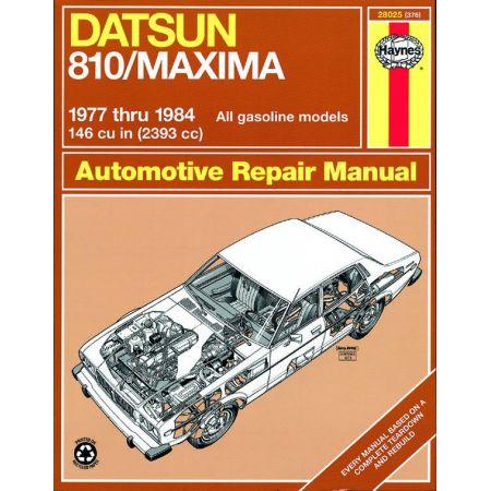 810 Maxima Sedan Wagon Coupe 77-84 Revue technique Haynes DATSUN Anglais