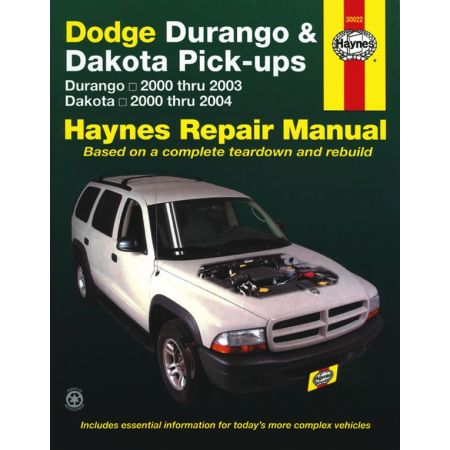 Durango 00-03 - Dakota 00-04 Revue technique Haynes DODGE Anglais