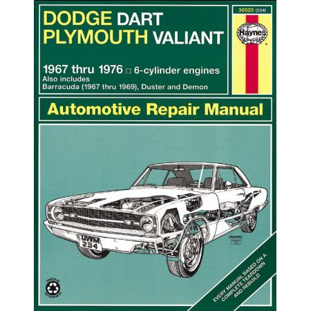 Dart - Valiant 67-76 Revue technique Haynes DODGE PLYMOUTH Anglais