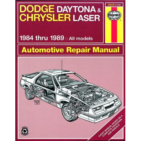 Daytona Laser 84-89 Revue technique Haynes DODGE CHRYSLER Anglais