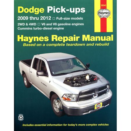 Full-Size Pick-ups 09-14 Revue technique Haynes DODGE Anglais