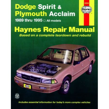 Spirit - Acclaim 89-95 Revue technique Haynes DODGE PLYMOUTH Anglais