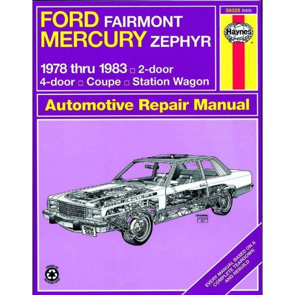 Fairmont Zephyr 78-83 Revue technique Haynes FORD MERCURY Anglais