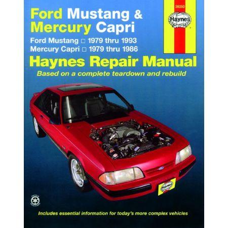 Mustang Capri 79-93 Revue technique Haynes FORD MERCURY Anglais