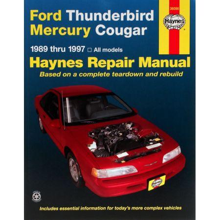 Thunderbird Cougar 89-97 Revue technique Haynes FORD MERCURY Anglais