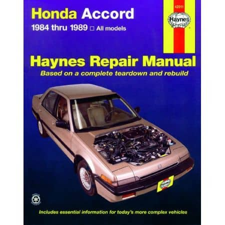 Accord 84-89 Revue technique HONDA Haynes Anglais