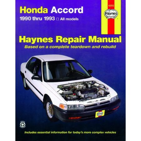 Accord 90-93 Revue technique Haynes HONDA Anglais