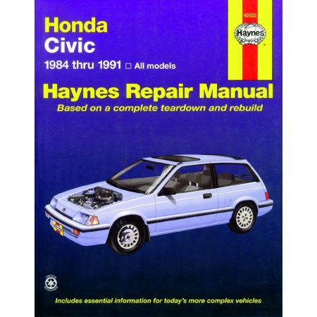 Civic Si Wagon 84-91 Revue technique Haynes HONDA Anglais