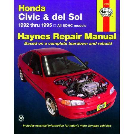 Civic del Sol 92-95 Revue technique Haynes HONDA Anglais
