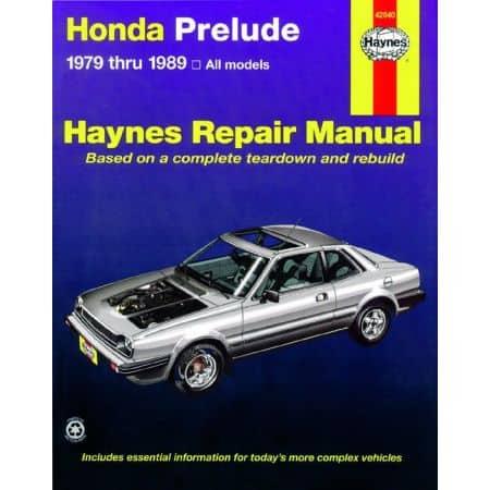 Prelude 79-89 Revue technique Haynes HONDA Anglais