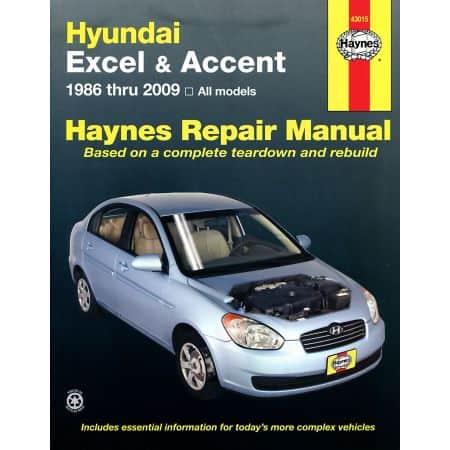 Excel Accent 86-13 Revue technique Haynes HYUNDAI Anglais