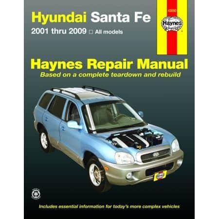 Sante Fe 01-12 Revue technique Haynes HYUNDAI Anglais