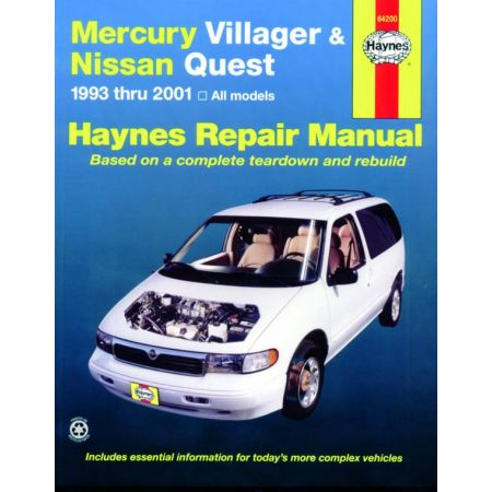 Villager Quest 93-01 Revue technique Haynes MERCURY NISSAN Anglais