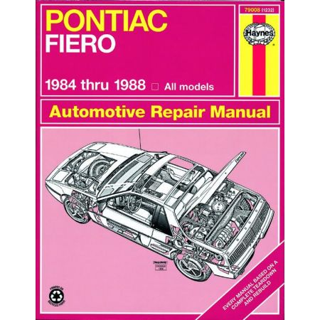 Fiero 84-88 Revue technique Haynes PONTIAC Anglais