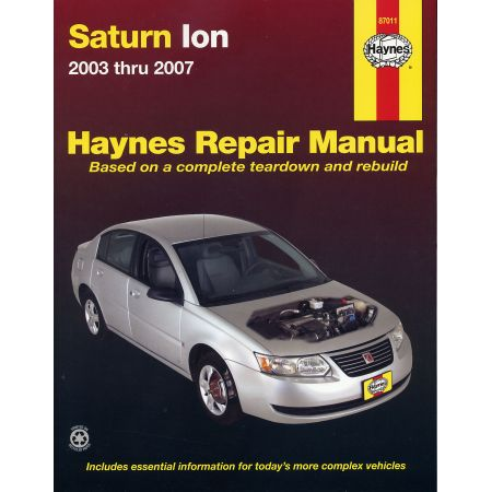 Ion 03-07 Revue technique Haynes SATURN Anglais