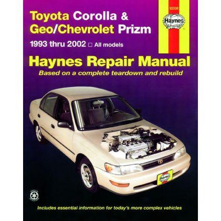 Corolla Prizm 93-02 Revue technique Haynes TOYOTA CHEVROLET GEO Anglais