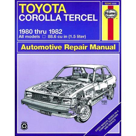Corolla Tercel 80-82 Revue technique Haynes TOYOTA Anglais