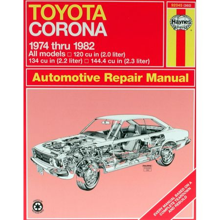 Corona Sedan Wagon 74-82 Revue technique Haynes TOYOTA Anglais