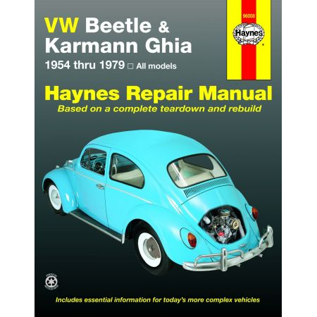 Beetle Karmann Ghia 54-79 Revue technique Haynes VW VOLKSWAGEN Anglais