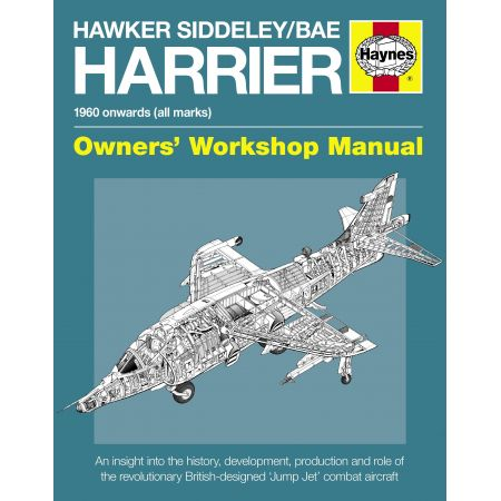 Hawker Siddeley BAEHarrier Manual Revue technique Haynes Anglais