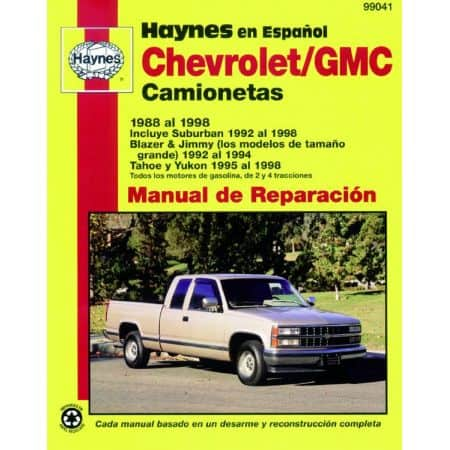Pick-up 88-98 Revue technique Haynes CHEVROLET Espagnol