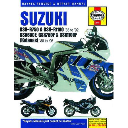 GSX-R 750 1100 GSXF 600 750 1100 86-92 SUZUKI Anglais