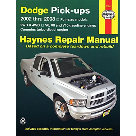 Pick-ups 1500 2500 3500 03-06 Revue technique haynes DODGE Anglais