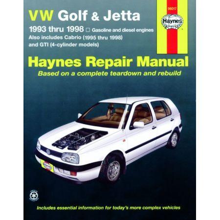 Golf GTI Jetta 93-98 Cabrio 95-02 Revue Technique Haynes VW Anglais