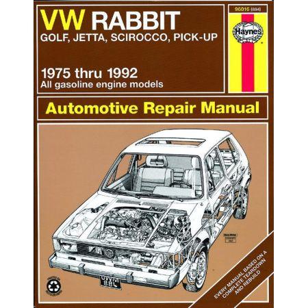 Rabbit Golf Jetta Scirocco Revue Technique Haynes VW VOLKSWAGEN Anglais
