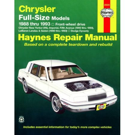 New Yorker 88-93 Revue technique Haynes CHRYSLER Anglais
