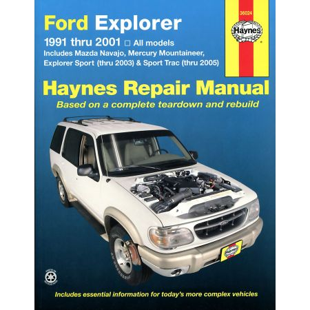 Explorer Navajo Mountaineer Revue technique Haynes FORD MAZDA Anglais