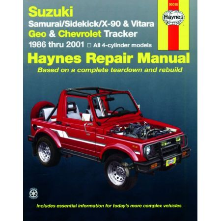Samuraï Vitara 86-01 Revue Technique Haynes SUZUKI Anglais