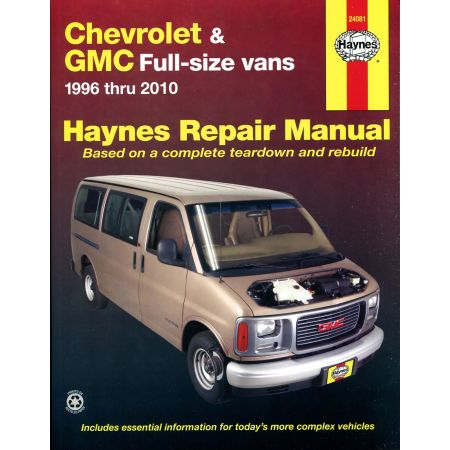 Express Savana 96-10 Revue technique Haynes CHEVROLET Anglais
