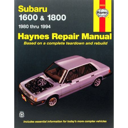 1600 1800 Pick-up Loyale Revue Technique Haynes SUBARU Anglais