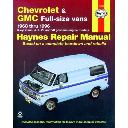 Full-size Vans 68-96 Revue technique Haynes CHEVROLET GMC Anglais