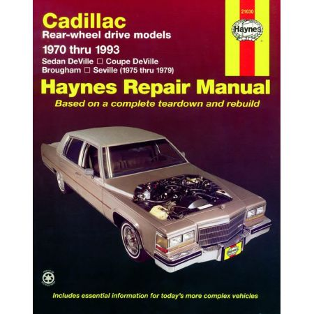 DeVille Coupe Sedan 70-93 Revue technique Haynes CADILLAC Anglais